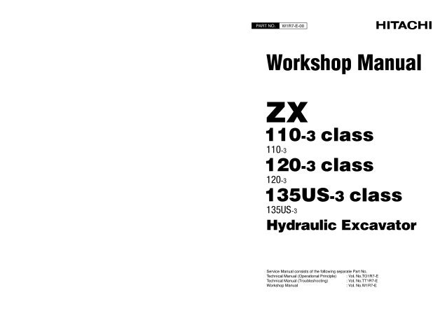 Hitachi zaxis zx 135 us 3 excavator service repair manual