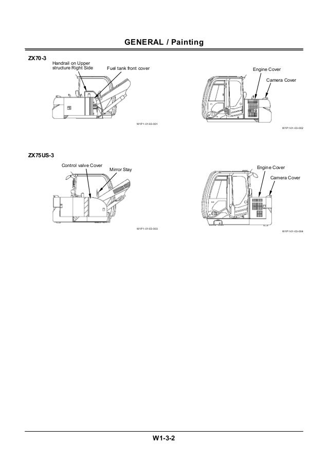 Hitachi zaxis zx 75 us 3 excavator service repair manual