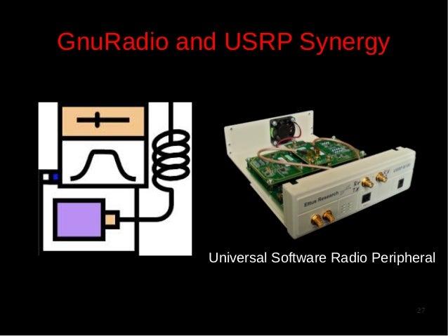 GnuRadio and USRP Synergy  Universal Software Radio Peripheral  27