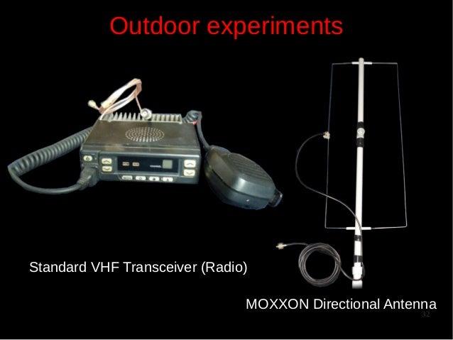 Outdoor experiments  Standard VHF Transceiver (Radio) MOXXON Directional Antenna 32