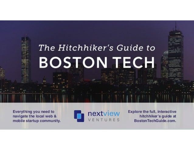 Everything you need to  navigate the local web &  mobile startup community.!  Explore the full, interactive  hitchhiker's ...