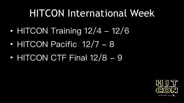 【HITCON FreeTalk】HITCON 2017 下半年活動介紹 Slide 3