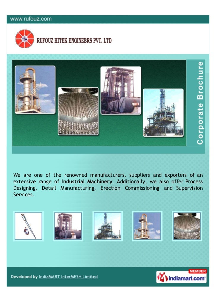 We are one of the renowned manufacturers, suppliers and exporters of anextensive range of Industrial Machinery. Additional...
