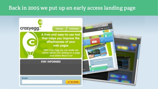 Back in 2005 we put up an early access landing page
