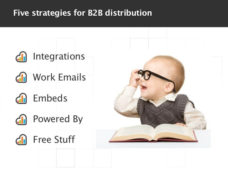 Five strategies for B2B distribution     Integrations     Work Emails     Embeds     Powered By     Free Stuff