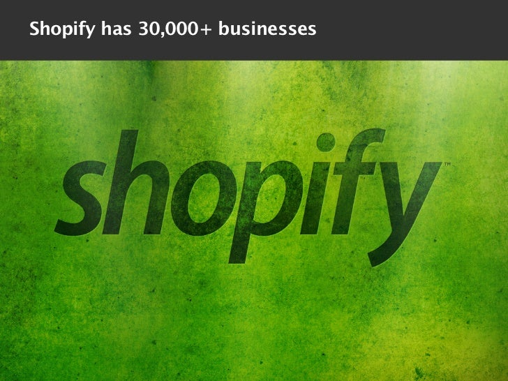 Shopify has 30,000+ businesses