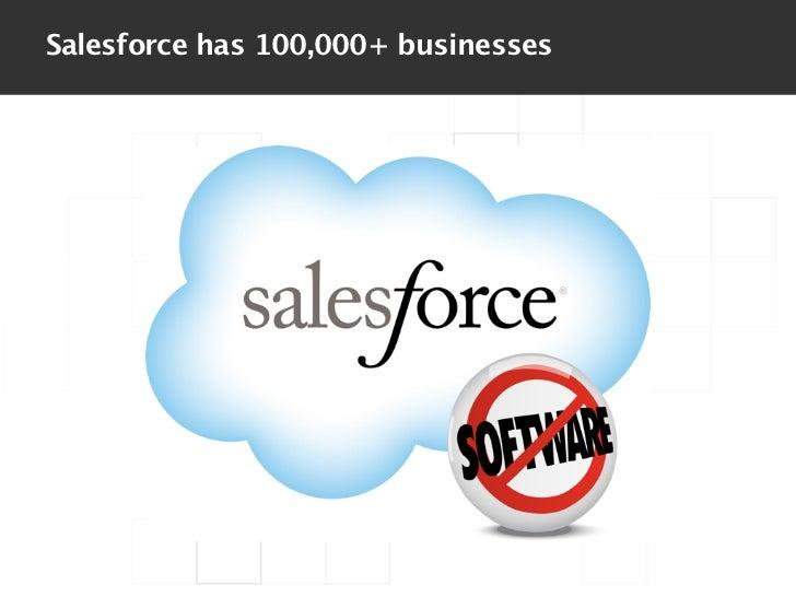 Salesforce has 100,000+ businesses