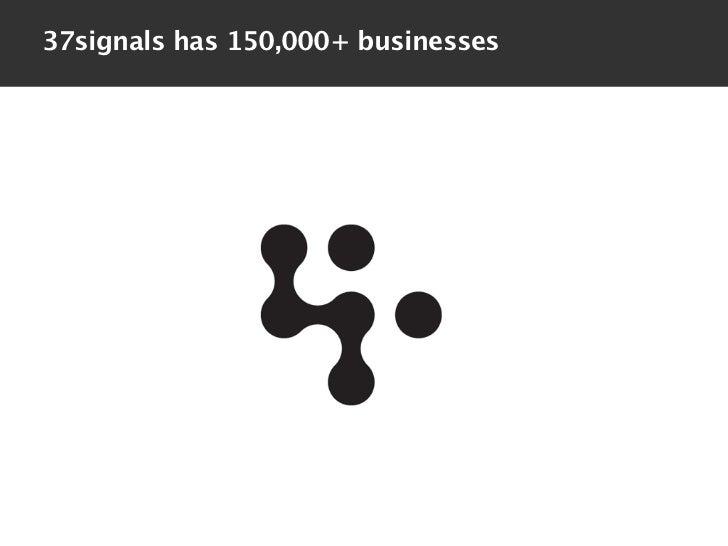 37signals has 150,000+ businesses
