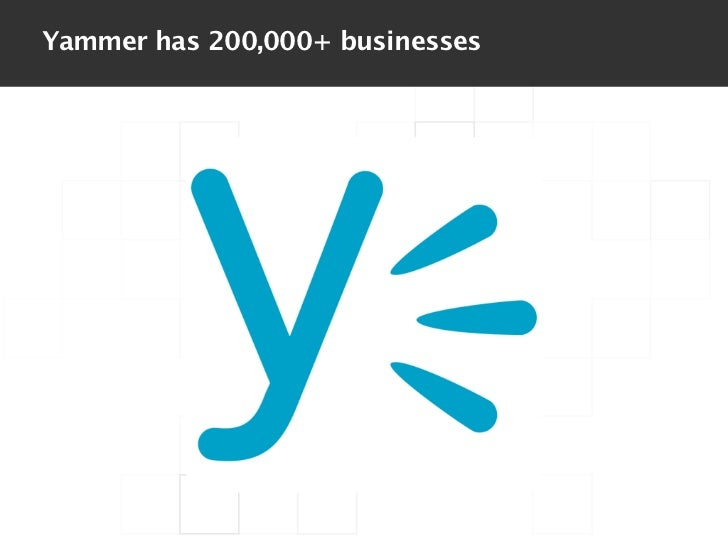 Yammer has 200,000+ businesses