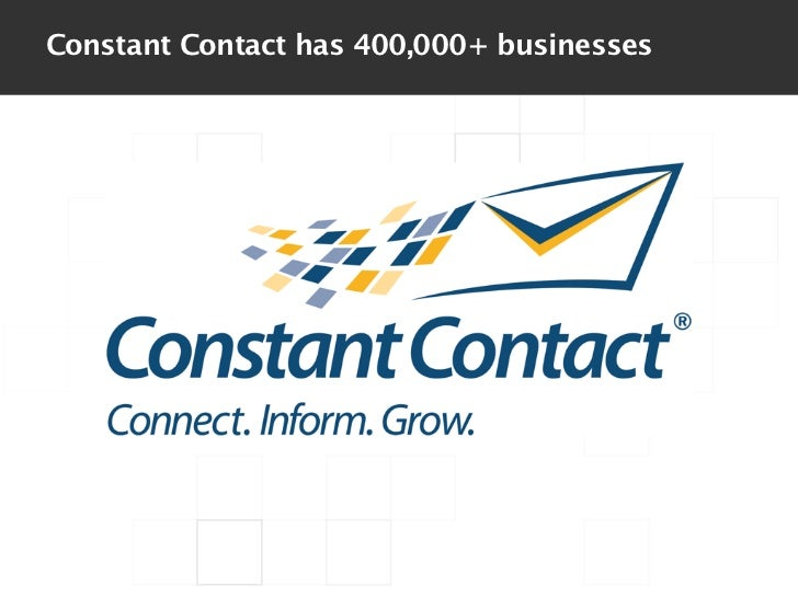 Constant Contact has 400,000+ businesses