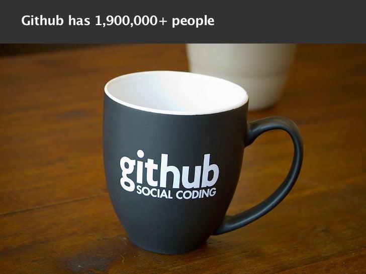 Github has 1,900,000+ people