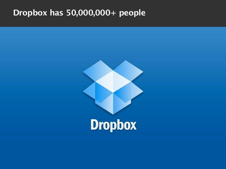 Dropbox has 50,000,000+ people