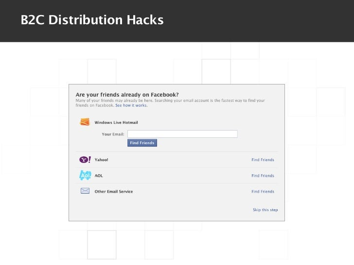 B2C Distribution Hacks