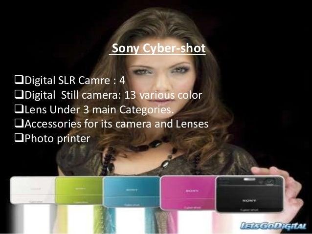 Sony Cyber-shot Digital SLR Camre : 4 Digital Still camera: 13 various color Lens Under 3 main Categories. Accessories...