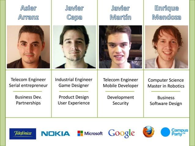 Telecom Engineer     Industrial Engineer   Telecom Engineer   Computer ScienceSerial entrepreneur     Game Designer       ...