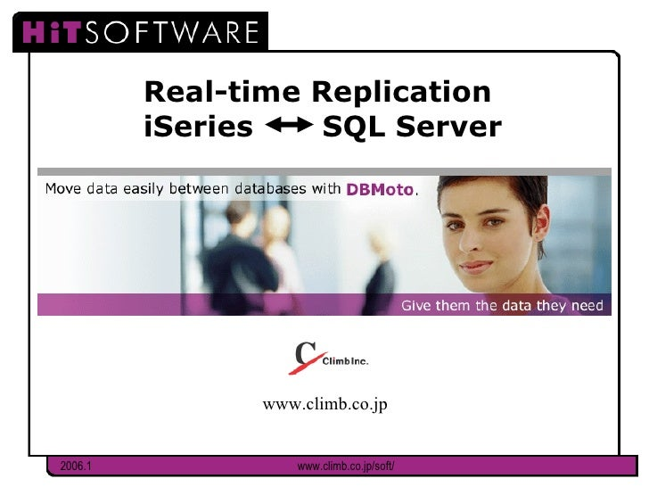 Real-time Replication  iSeries  SQL Server www.climb.co.jp