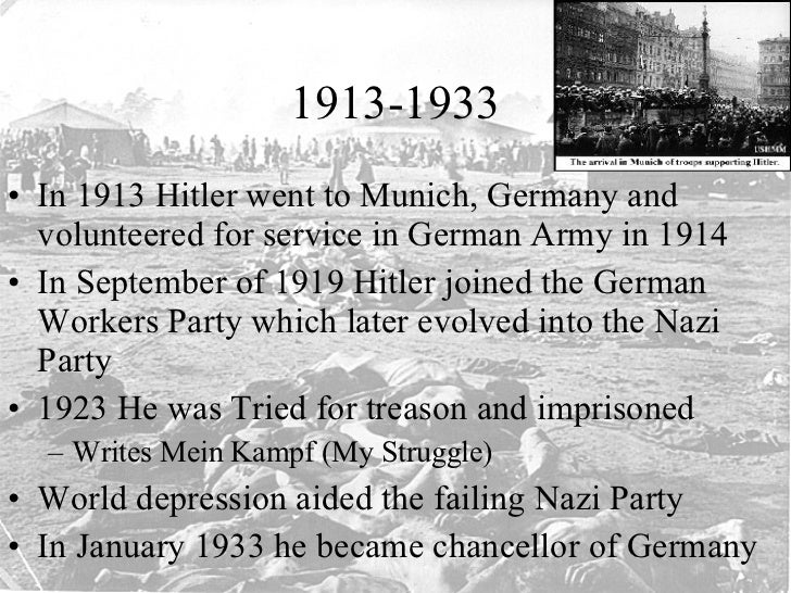 an examination of hitler and the nazi regimes rise to power in germany After hitler was released from prison, he formally resurrected the nazi party hitler began rebuilding and reorganizing the party, waiting for an opportune time to gain political power in germany the conservative military hero paul von hindenburg was elected president in 1925, and germany stabilized.