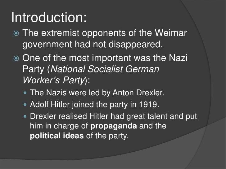Hitler and the Nazis  Slide 2