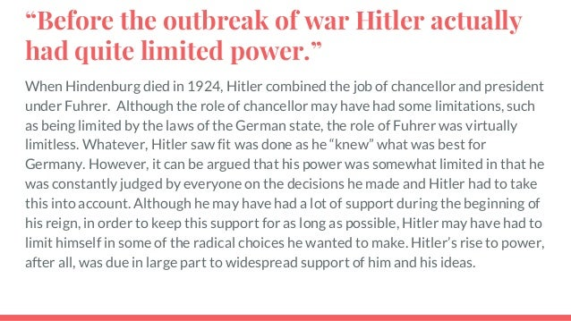 Hitler And Totalitarianism