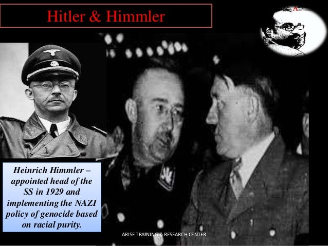 Heinrich Himmler – appointed head of the SS in 1929 and implementing the NAZI policy of genocide based on racial purity. H...
