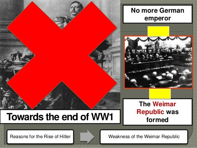 "an analysis of the collapse of weimar germany and the democratic government ""the proposals for the new constitution were influenced by the long-established democratic germany of the weimar republic weimar to collapse."