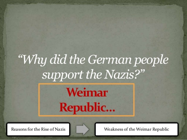lessons from the weimar republic Lessons from the weimar republic.