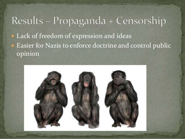 the effect of propaganda on nazi Personal project task: this presentation is aimed to answer the line of inquiry, which is: how did the nazi's use propaganda to effectively silence and/or turn.