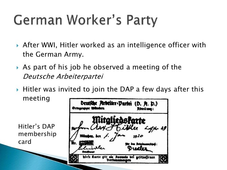 the rise of hitlers nazi party to power This nazi germany timeline includes critical dates that led to the rise and fall of the third reich hitler defined the nazi party foreign policy.