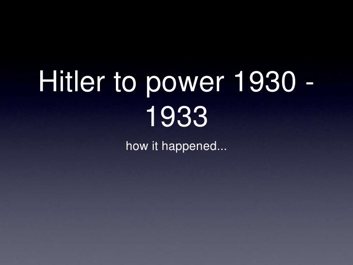 why did hitler rise to power Watch video  adolf hitler was the leader of nazi germany from 1934 to 1945 he initiated world war ii and oversaw fascist policies that led to the holocaust rise to power.