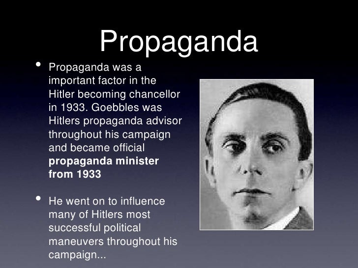 an analysis of power and propaganda the nazi rise to power Comparing hitler and stalin in their rise to power  the form of propaganda that hitler used,  being able to gain nazi party control and gain enough.
