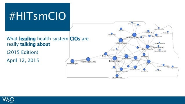 #HIMSS15 What leading health system CIOs are really talking about (2015 Edition) April 12, 2015 #HITsmCIO