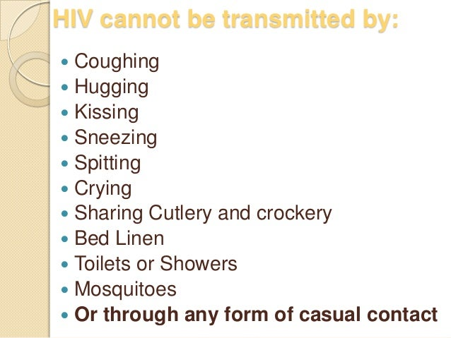 can aids be transmitted through saliva