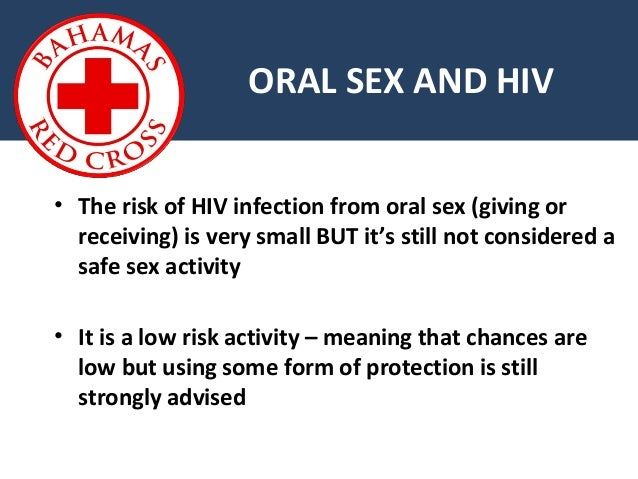 insertive oral sex and hiv infection