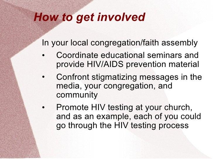 How to get involved <ul><li>In your local congregation/faith assembly </li></ul><ul><li>Coordinate educational seminars an...
