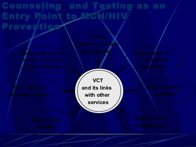 Counseling and Testing as an Entry Point to MCH/HIV Prevention Community action to reduce Stigma & discrimination  Post - ...
