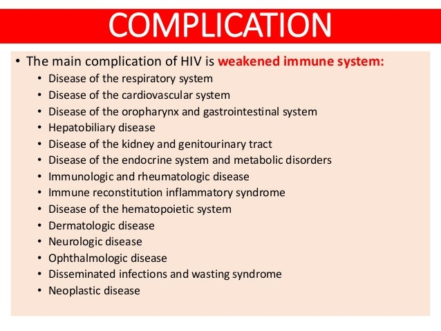 Hiv Aids Risk Factor Clinical Feature Amp Complication