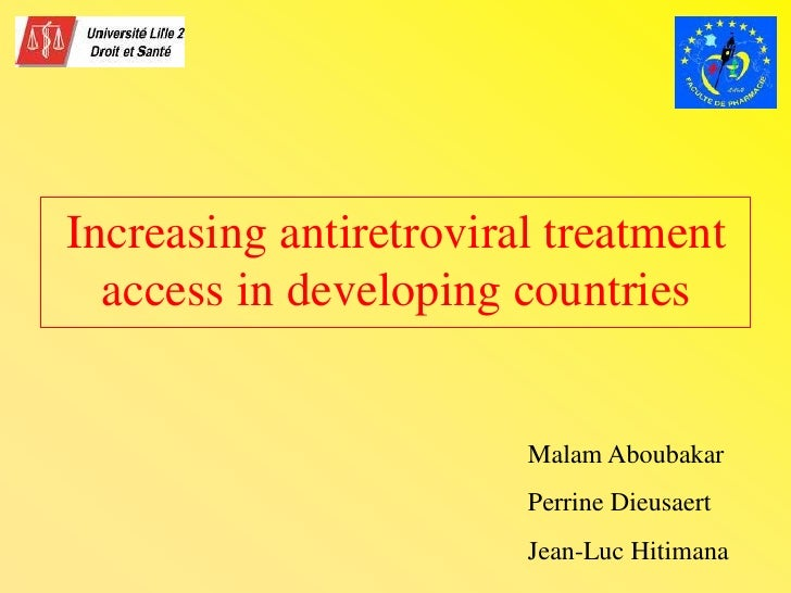 Hiv Drug Distribution in developing countries.