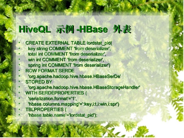 Hive Introduction 介绍