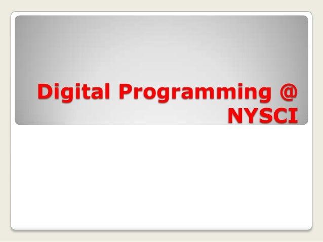 Digital Programming @ NYSCI
