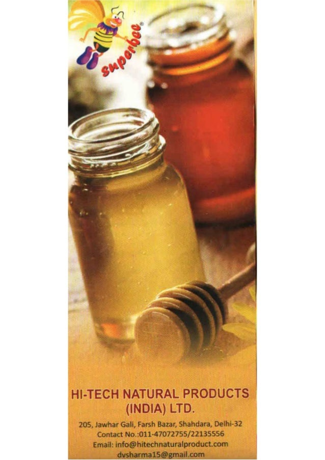 Hi Tech Natural Products India Limited, New Delhi, Honey And Beekeeping Equipment