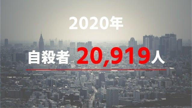 自殺者 20,919人 2020年