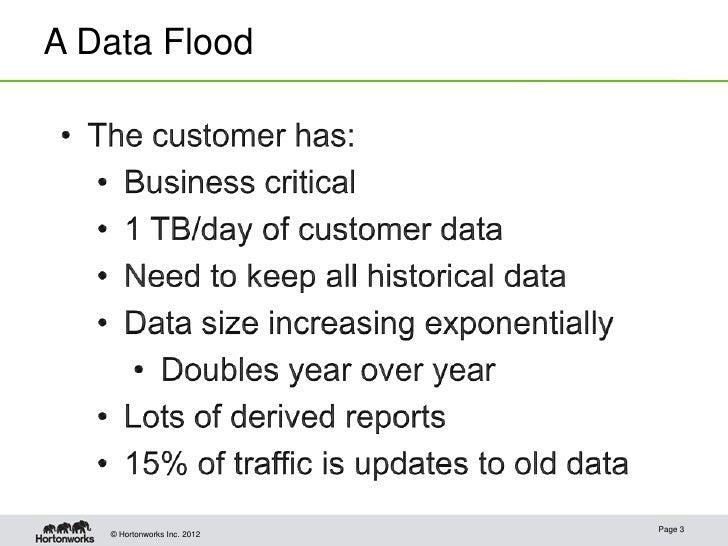 A Data Flood                             Page 3   © Hortonworks Inc. 2012