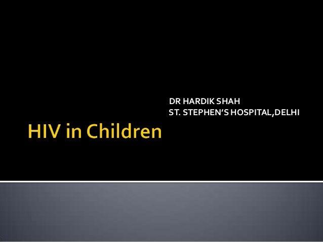 DR HARDIK SHAH ST. STEPHEN'S HOSPITAL,DELHI
