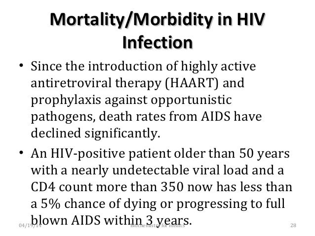 Age for HIV InfectionAge for HIV Infection • Most AIDS cases occur in adults aged 25-49 years (70% of cases). • Adolescent...
