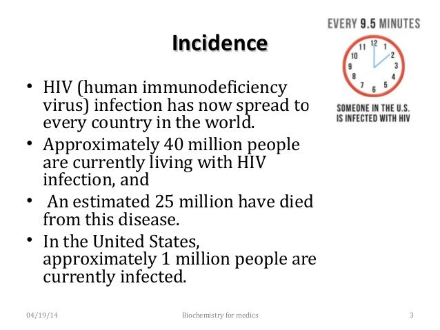 A Global view of HIV InfectionA Global view of HIV Infection 04/19/14 Biochemistry for medics 4