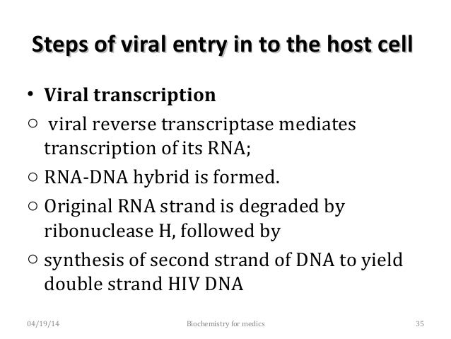 Steps of viral entry in to the host cellSteps of viral entry in to the host cell • Integration into the host DNA as provir...