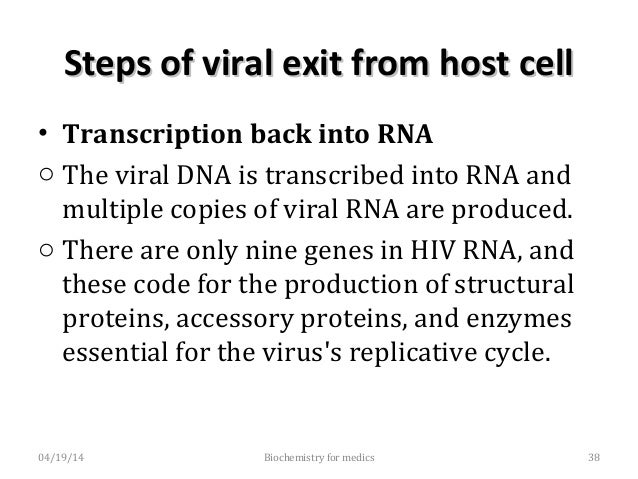 Steps of viral exit from host cellSteps of viral exit from host cell • Virion assembly - With the help of viral protease, ...