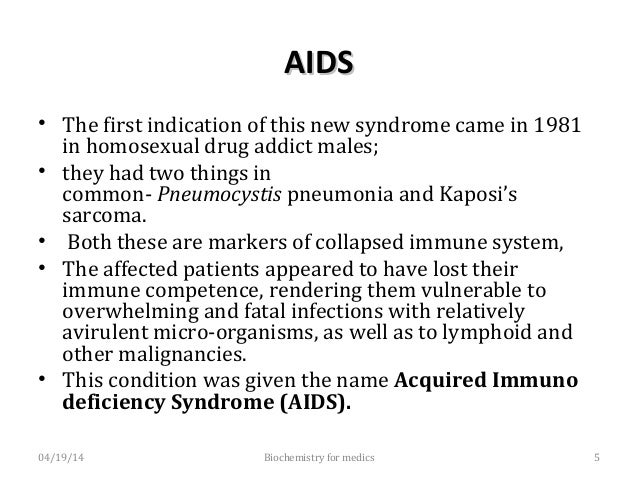 AIDS MarkersAIDS Markers Pneumocystispneumonia and Kaposi's sarcoma are considered AIDS markers, since they reflect the u...