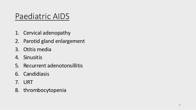 hiv manifestations in ent