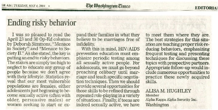 HIV/AIDS Letter to the Editor